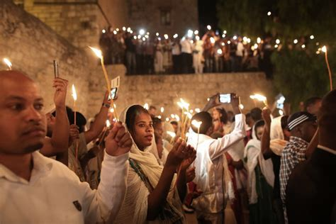 ethiopian orthodox christian church in sign of unity christians renovate jesus s jerusalem