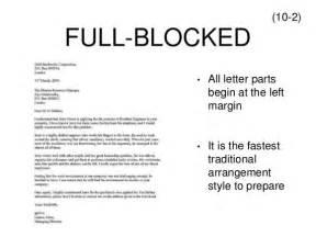 Full Block Form Of Application Letter When Do I Use A Semi Block Letter Quora