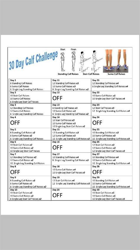 calf challenge 30 day calf challenge fitness