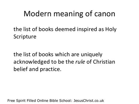 Canon Letter And Spirit The Bible The Canon Of Scripture