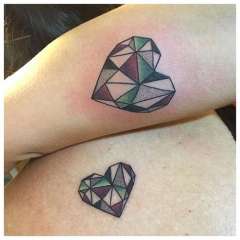 geometric heart tattoo meaning 60 mother daughter tattoos herinterest com part 2
