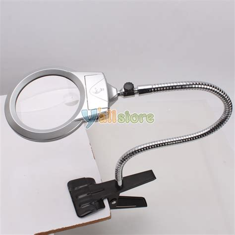 lighted table top desk magnifier magnifying glass with