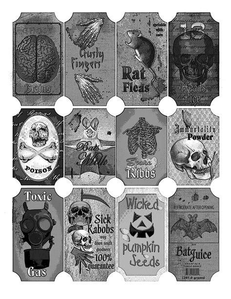 etiketten apothekerflaschen free digital collage sheet apothecary labels