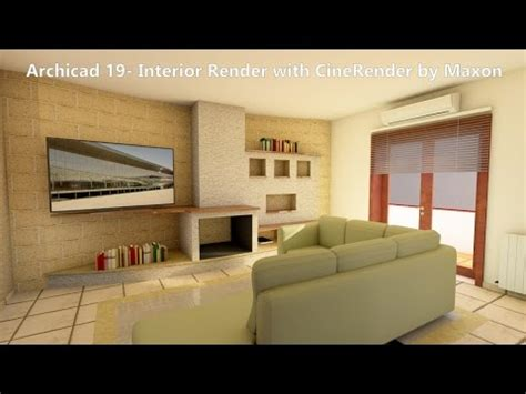 Kitchen Design Cad by Archicad 19 Interior Render With Cinerender By Maxon Youtube