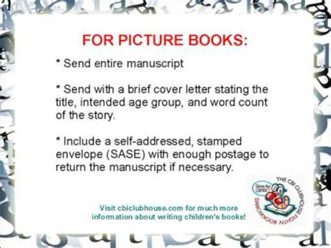 picture book manuscript writing children s books a crash course in submitting a