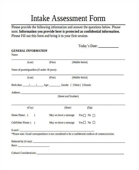 client assessment form template 28 images needs
