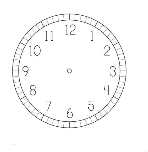 Clock Template by 12 Clock Sles Sle Templates