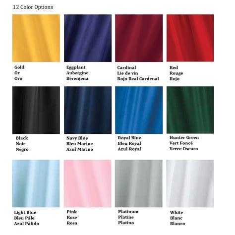 academic colors guide couleur toges academic jostens jostens
