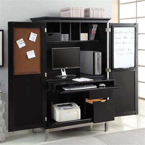 Sunrise Home Furnishings 7694bk Computer Armoire Atg Stores Computer Armoires