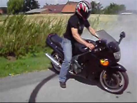 Motorrad Burnout Videos by Motorrad Burnout Kawasaki Zzr 600 Powersound Youtube