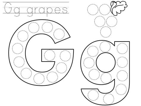 free printable dotted alphabet letters do a dot letter g printable 171 funnycrafts