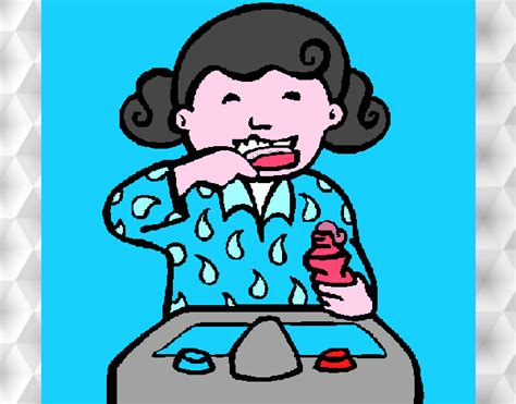 dibujo de ni a cepill ndose los dientes para colorear dibujo de ni a cepill ndose los dientes para colorear