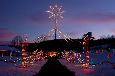 la salette lights the la salette shrine light display in enfield