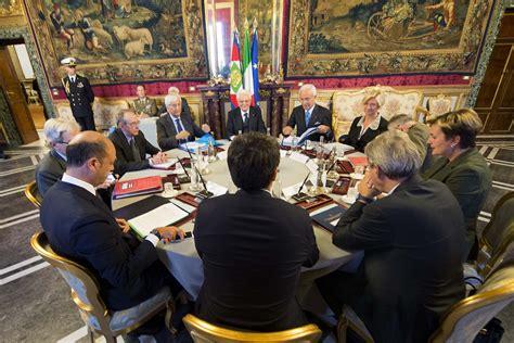 segretario generale presidenza consiglio dei ministri la riunione odierna consiglio supremo di difesa