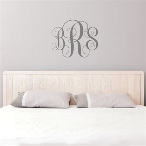 personalized monogram initial vinyl wall decal by five aliexpress com buy monogram wall decal personalized