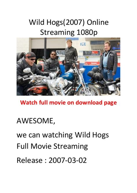watch wild hogs 2007 full hd movie trailer wild hogs 2007 top 10 comedy action movies