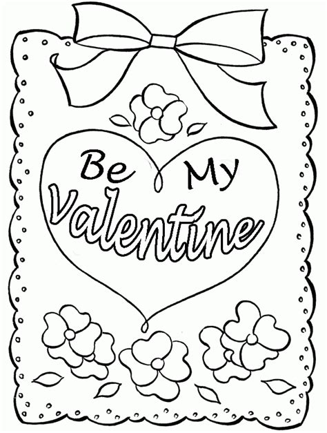 printable valentine card to color coloring pages for valentines day cards coloring home