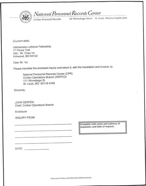 Transmittal Letter Format Sle Letter Of Transmittal Requesting Translation From Source Outside Of