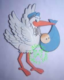 pin ciguena con moldes ciguenas bebes en foami imagenes