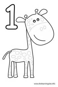 number 1 coloring page number 1 outline coloring pages
