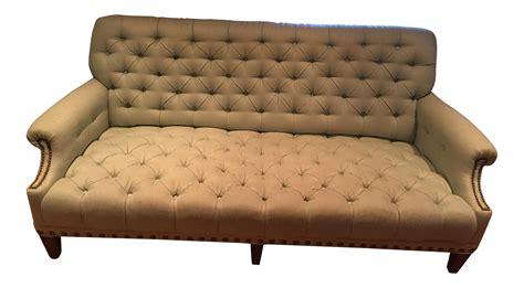light blue tufted sofa light blue tufted nailhead detail sofa chairish