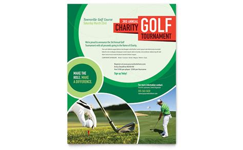 golf cart tournament cards template golf tournament flyer template design