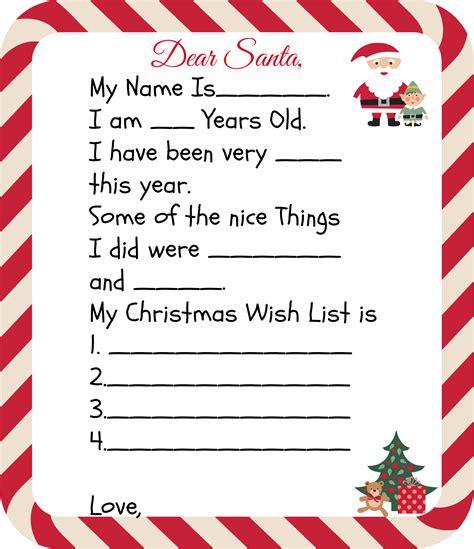 printable santa letters kids christmas letter
