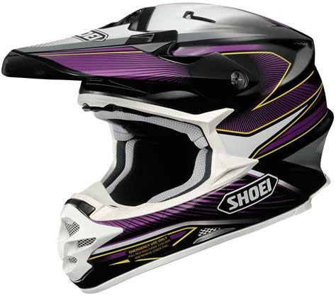 purple motocross helmet shoei vfx w sear motocross helmet black purple shoei