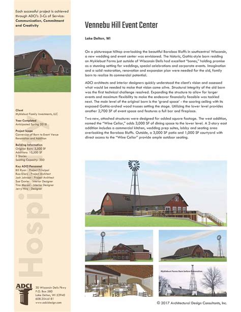 cr hill design group llc vennebu hill project showcased in adci press release