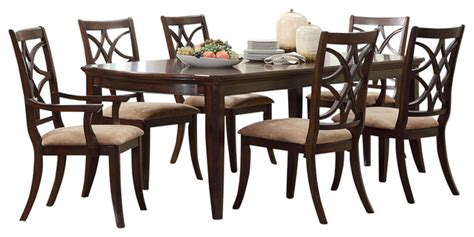 brussels traditional dining room set 7 piece set homelegance keegan 7 piece dining room set in brown cherry