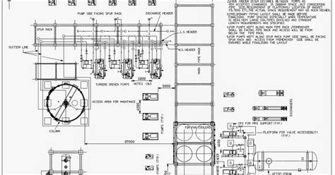 layout plot plan general guidelines of pump piping layout piping guide