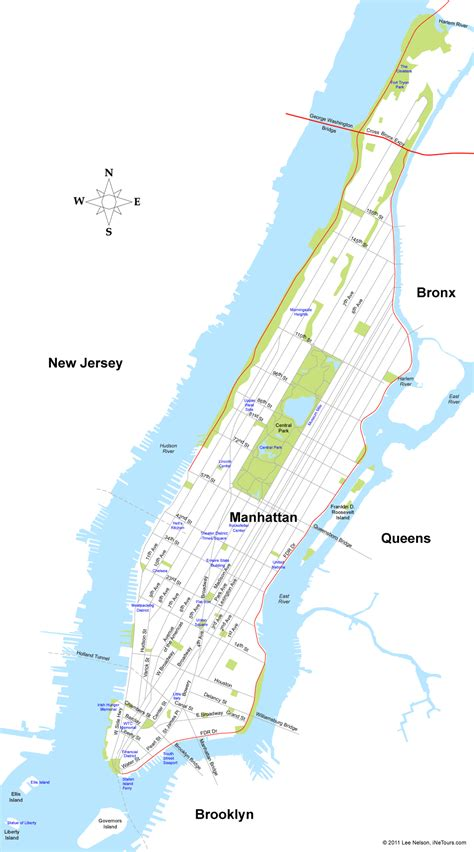 a map of manhattan new york map of manhattan new york city map