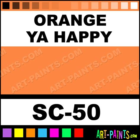happy paint colors orange ya happy stroke and coat ceramic paints sc 50