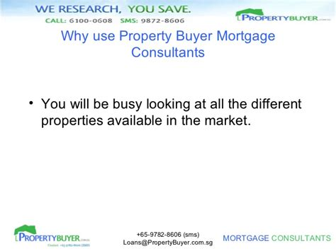 Loan Consultant by Singapore Property Buyer Mortgage And Home Loan Broker