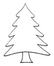 christmas tree outlines cliparts