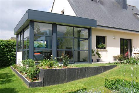 extension veranda extension vitr 233 e et veranda avec bandeau aluminium