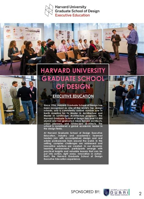 Harvard Dubai Mba by Smart Cities Program Harvard Gsd Executive Education