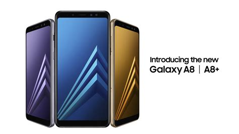 Samsung A8 Series 2018 samsung galaxy a8 2018 official it s basically a cheaper s8