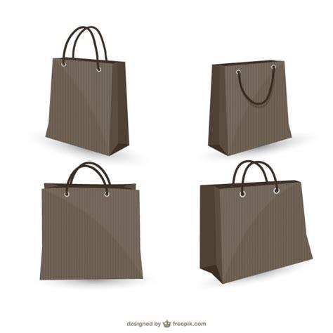 Shopping Bag Free Vector Black Shopping Bags Collection Vector Free