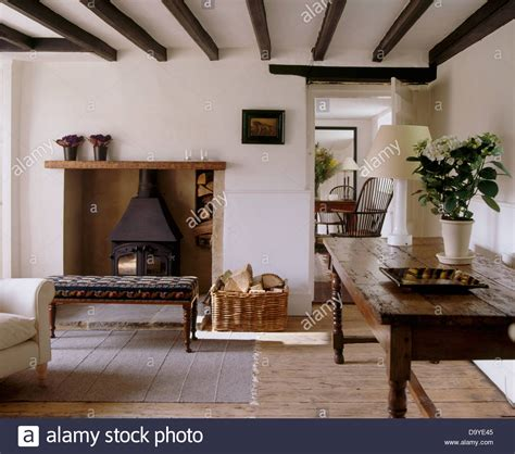 cottage living room furniture white old oak table and wooden floor in white cottage living