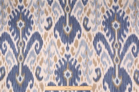 ikat drapery fabric 12 8 yards kf ikat printed cotton drapery fabric