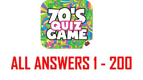 in the 70s tv trivia of the seventies answers 70 s quiz game all levels answers 1 200 goxal studios