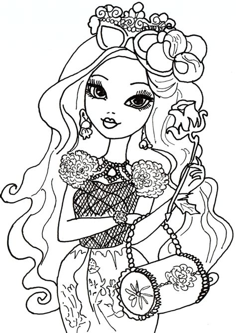 ever after high coloring pages briar beauty more