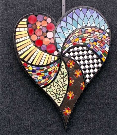 Heart Mosaic Pattern | heart mosaic hearts pinterest