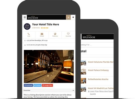 theme hotel mobile best hotels directory theme 2018 splendor hotel search