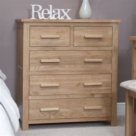 eton solid modern oak furniture 2 3 bedroom chest of