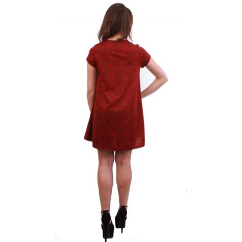 swing clothing uk red checked swing dress