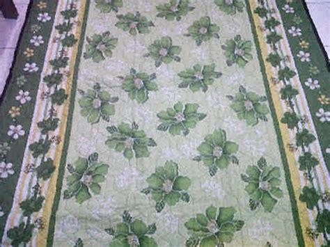 Tikar Lipat Motif Bunga R1 tikar quilting bunga hijau tikarquilting