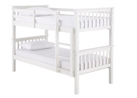 White Wood Bunk Beds Gfw Novaro White Wooden Bunk Bed By Gfw