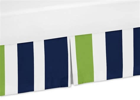 lime green bed skirt navy blue and lime green crib bed skirt for stripe bedding sets only 39 99